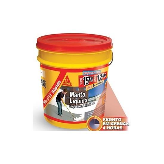 Sikafill Rápido Impermeabilizante Acrílico Elástico 15kg