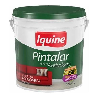 Tinta Latex Pintalar Branco Neve 15 Litros Balde Iquine