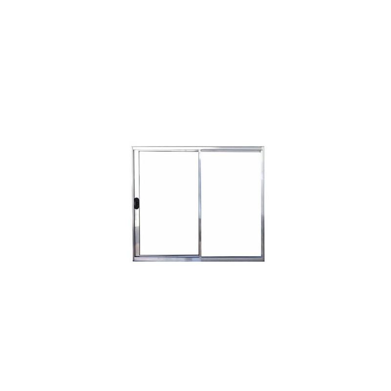 Janela De Alumínio Branco 2 Folhas S/Band V/L 1x1 Poty