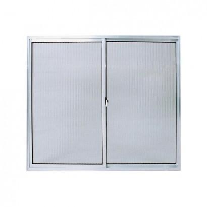 Janela De Alumínio Branco 2 Folhas S/Band V/L Poty