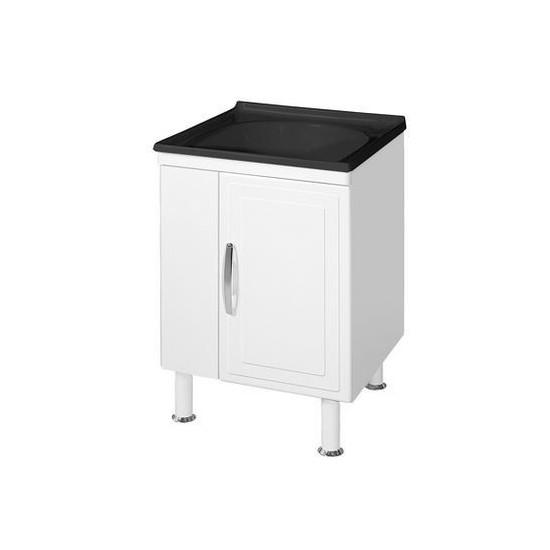 Gabinete + Tanque Fibra 60x60cm Preto Marroart