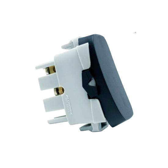 Modulo Interruptor Simples 10A Preto 250v Gracia 85355 Alumbra