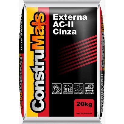 Argamassa AC III Flexível Cinza 20Kg Contrumais