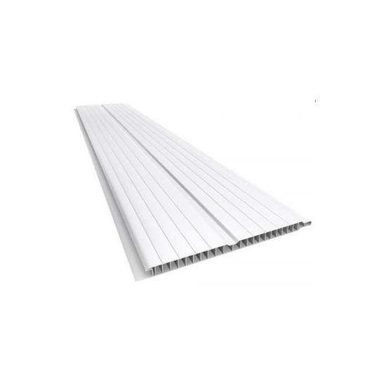 Forro de PVC Branco frisado 8 mm Barra 6 metros x 20 cm larg
