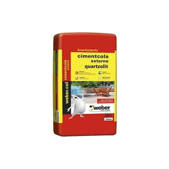 Cimentcola ACII Weber Color 20kg externo Quartzolit
