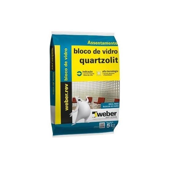 Argamassa Bloco De Vidro 5kg Weber Quartzolit