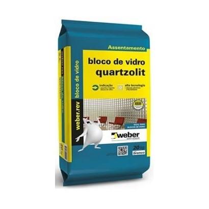 Argamassa Para Blocos De Vidro 20kg Weber Quartzolit