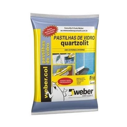 Argamassa Pastilha Vidro 5Kg Branca Quartzolit