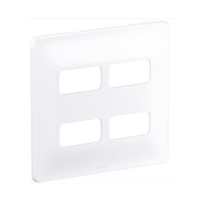 Placa 4x4 4 Postos Separados PialPLus Branco
