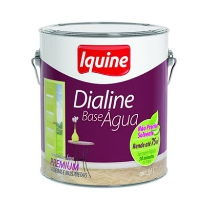 Esmalte Dialine Base de Água Premium 3,6 lt Iquine