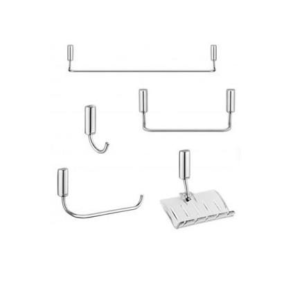 Kit Banheiro 5 Peças Idea Chrome Docol