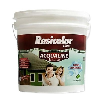 Resina Acril TelhaBril Acqualine Resicolor