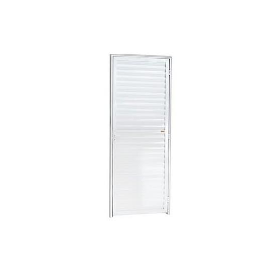 Porta De Alumínio Branco Veneziana Lider