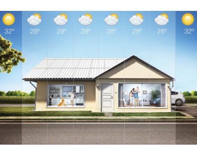 Telha térmica de fibrocimento ajuda a reduzir o calor dos ambientes